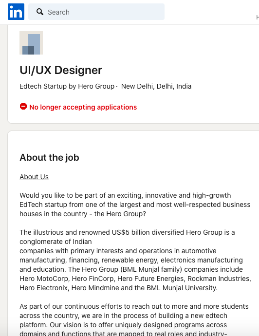 hero-group-edtech-startup-job-posting-hiring-for-designer