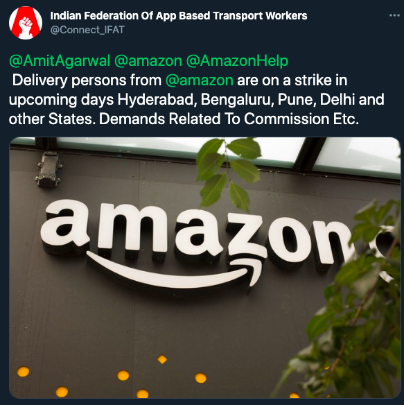 amazon-india-delivery-partners-to-go-on-strike