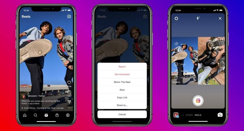 instagram-launches-tiktok-style-feature-remix-on-reels