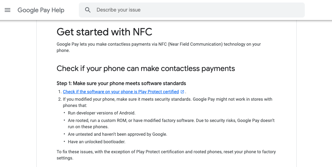 google-pay-nfc-payment-support-page